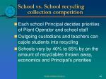 school vs school recycling collection competition