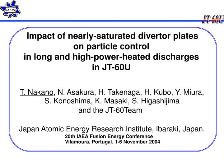Impact of nearly-saturated divertor plates