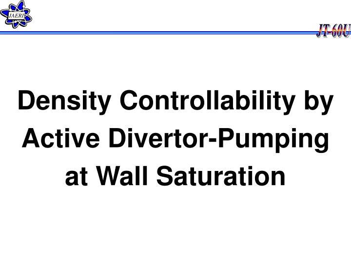 Density Controllability by