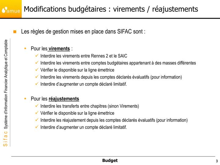 Modifications budg taires virements r ajustements1