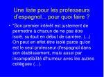 une liste pour les professeurs d espagnol pour quoi faire2