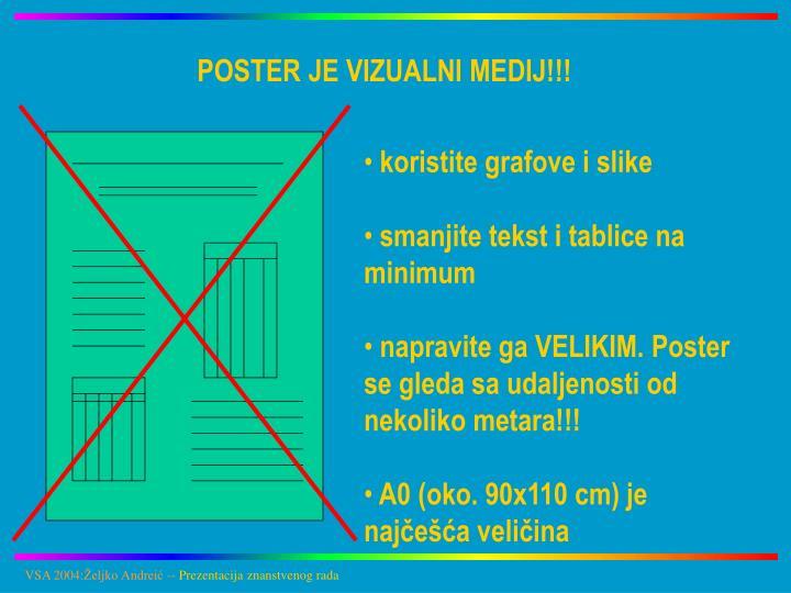 POSTER JE VIZUALNI MEDIJ!!!