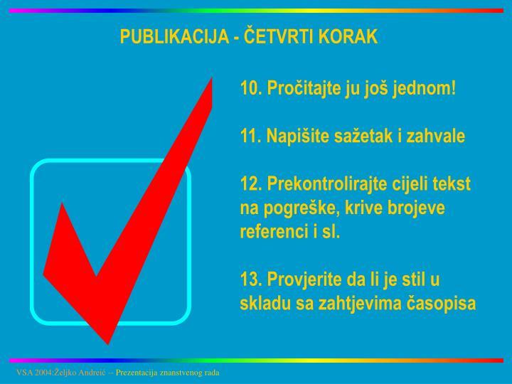 PUBLIKACIJA - ČETVRTI KORAK