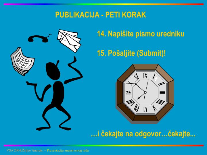 PUBLIKACIJA - PETI KORAK