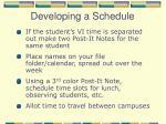 developing a schedule1