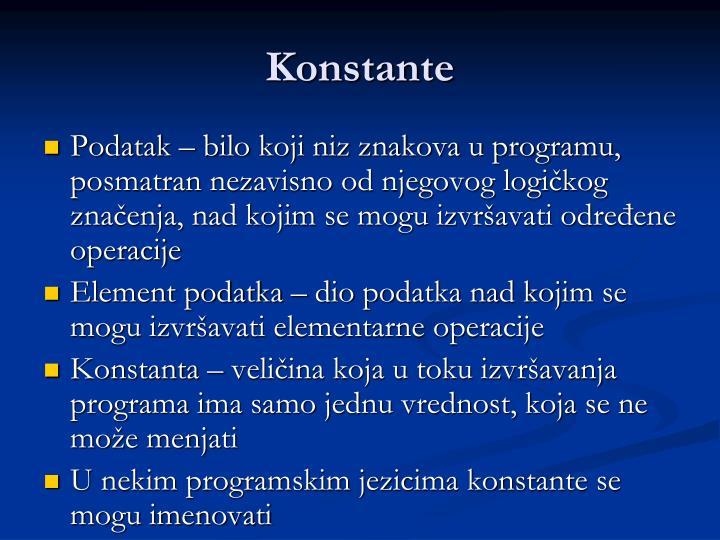 Konstante