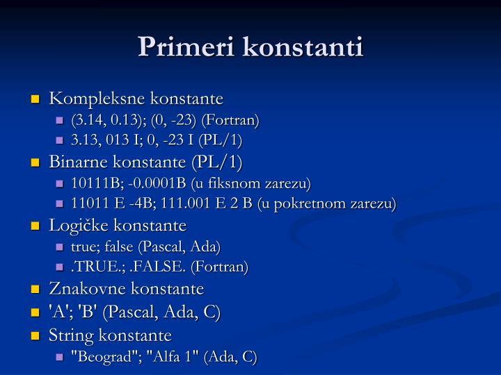 Primeri konstanti