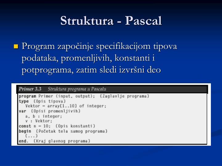 Struktura - Pascal