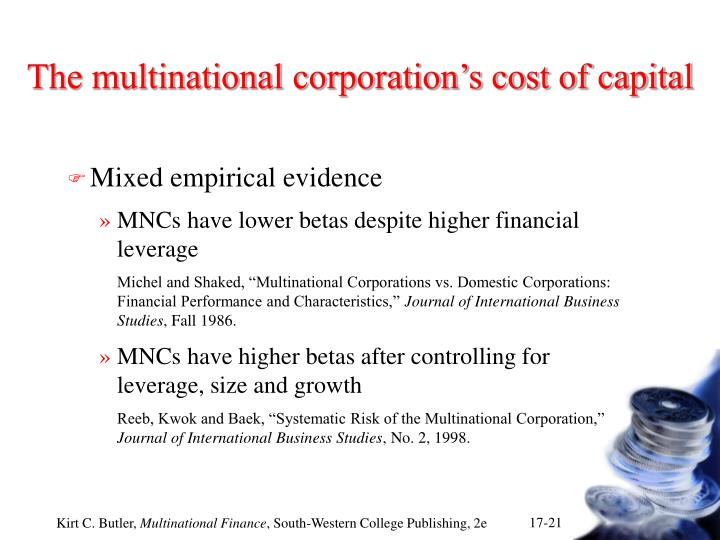 characteristics of multinational companies