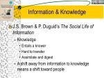 information knowledge