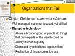 organizations that fail
