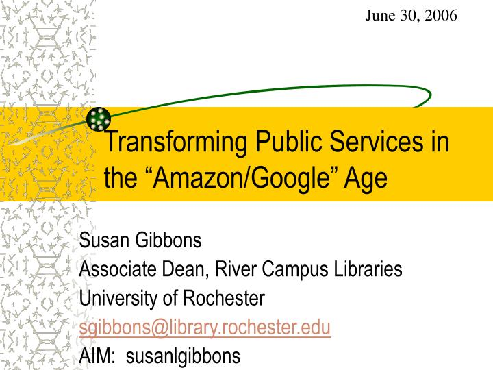 transforming public services in the amazon google age n.
