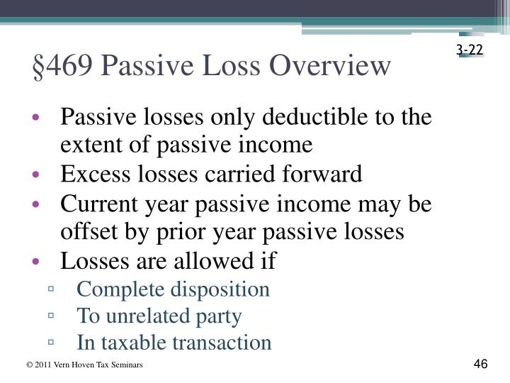 §469 Passive Loss Overview