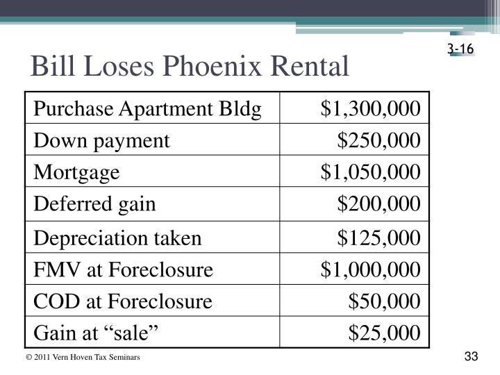 Bill Loses Phoenix Rental