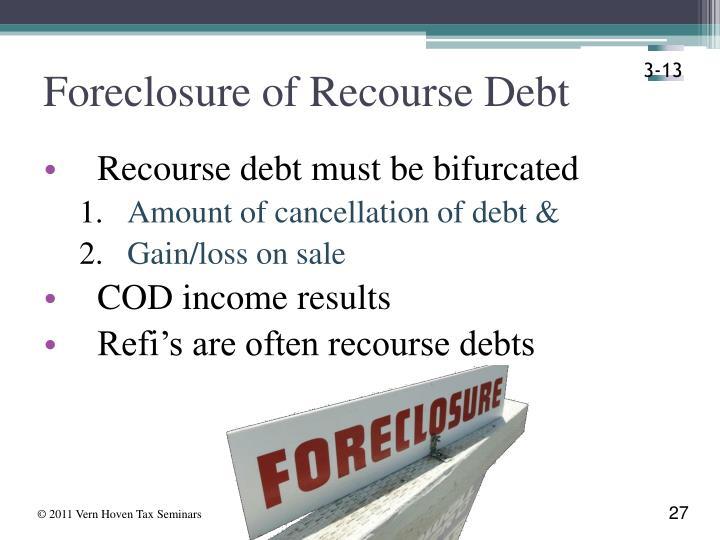 Foreclosure of Recourse Debt