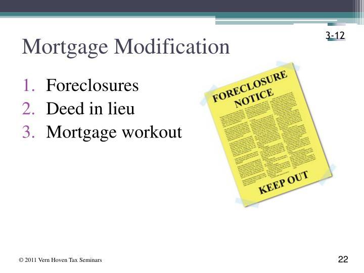 Mortgage Modification