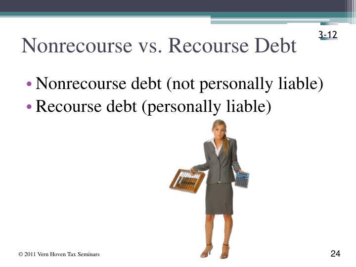 Nonrecourse vs. Recourse Debt