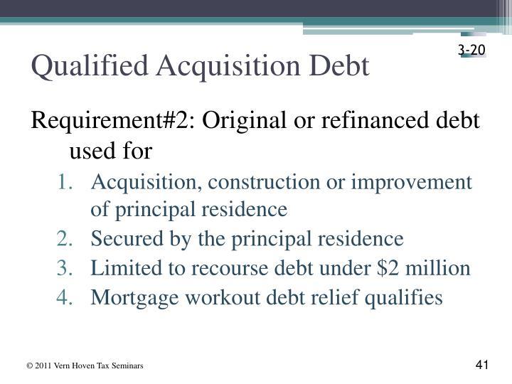Qualified Acquisition Debt
