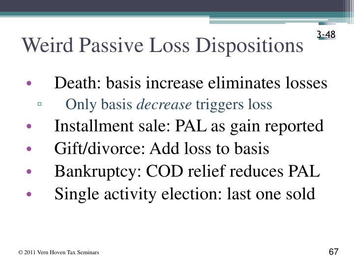 Weird Passive Loss Dispositions