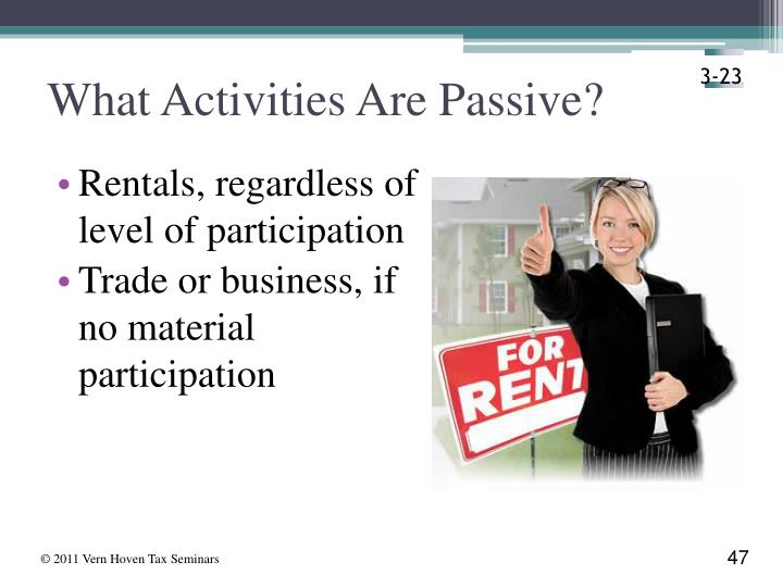 What Activities Are Passive?