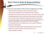 basic partner roles responsibilities