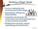 building a village model