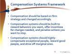 compensation systems framework