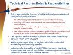technical partners roles responsibilities