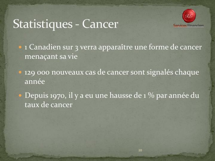 Statistiques - Cancer