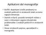 aplikativni del monografije