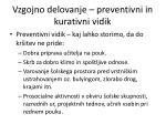 vzgojno delovanje preventivni in kurativni vidik