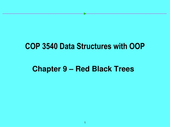 cop 3540 data structures with oop n.