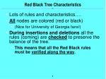 red black tree characteristics