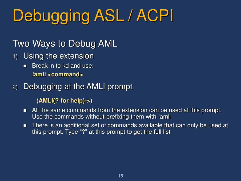 PPT - Implementing, Testing And Debugging ACPI On Windows
