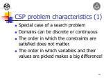 csp problem characteristics 1