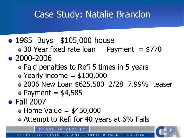 Case Study: Natalie Brandon
