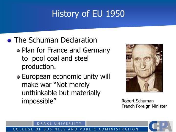 History of EU 1950