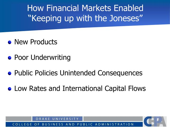 How Financial Markets Enabled
