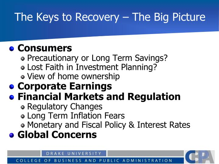 The Keys to Recovery – The Big Picture