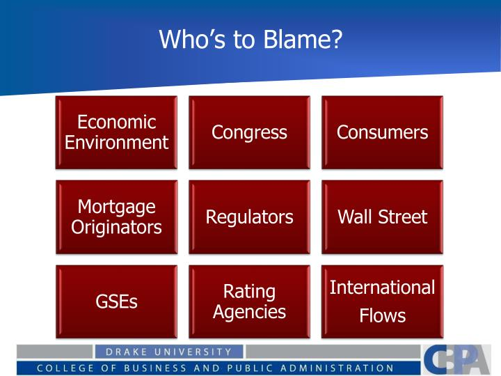 Who s to blame