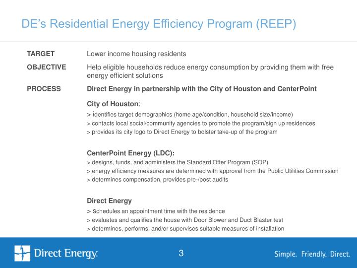 De s residential energy efficiency program reep