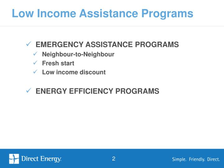EMERGENCY ASSISTANCE PROGRAMS