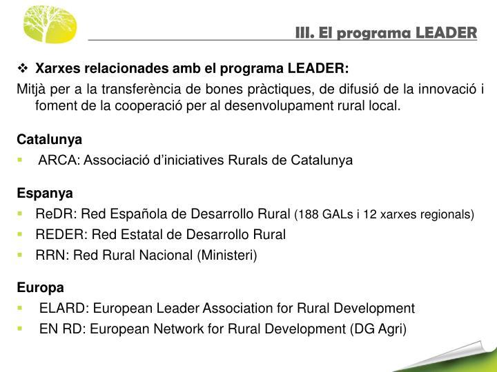 III. El programa LEADER