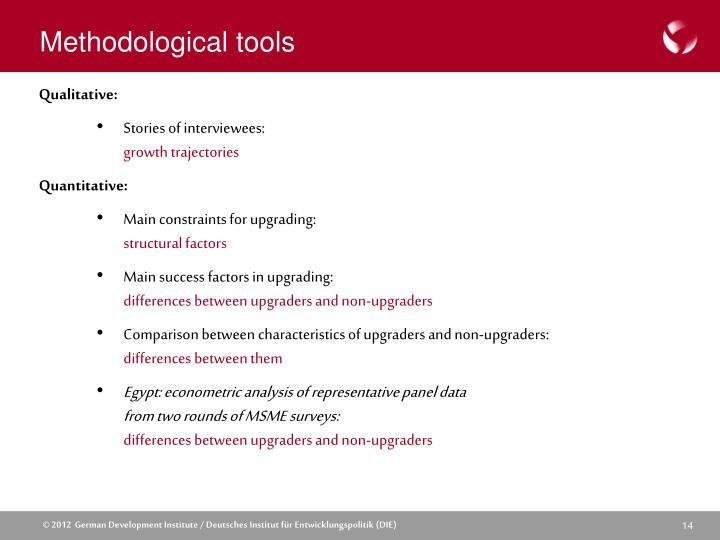 Methodological tools