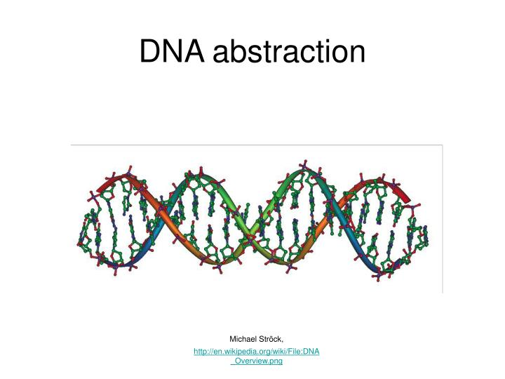 Dna abstraction