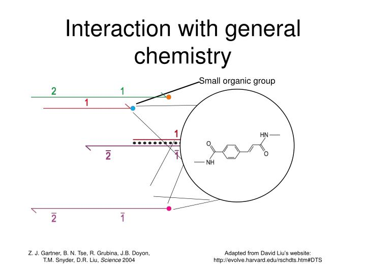 Interaction with general chemistry