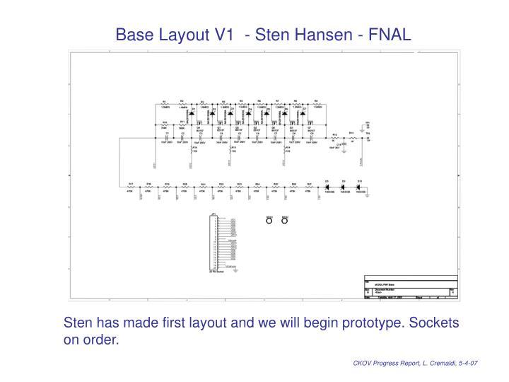 Base Layout V1  - Sten Hansen - FNAL