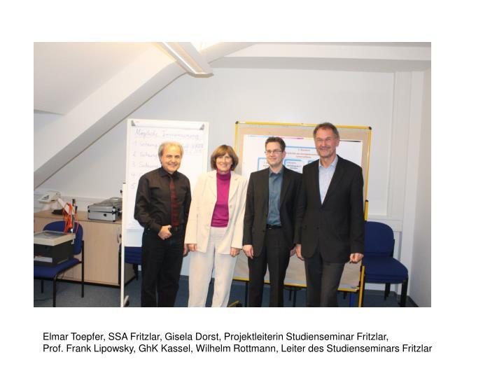 Elmar Toepfer, SSA Fritzlar, Gisela Dorst, Projektleiterin Studienseminar Fritzlar,