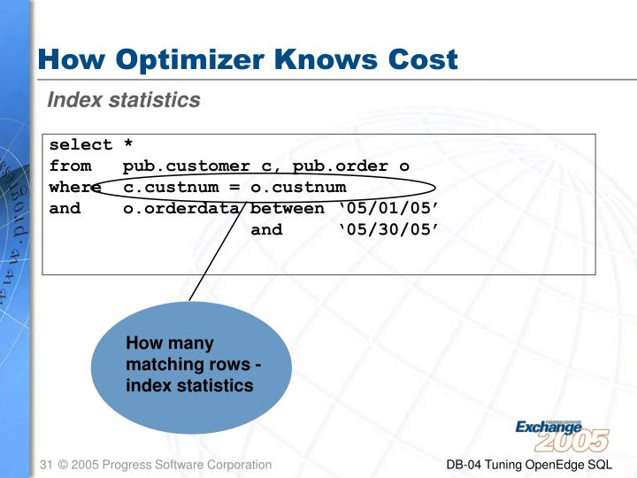 How Optimizer Knows Cost