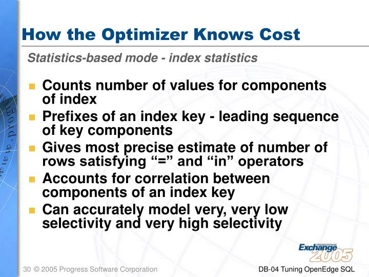 How the Optimizer Knows Cost